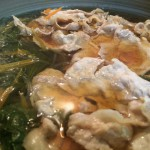 【パパご飯】豚肉とほうれん草の鍋 簡単にできて温まる 寒い日にすぐできるのでオススメ