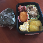 体調イマイチなので手伝ってもらった 〜2017/07/26のパパが作る子供のお弁当