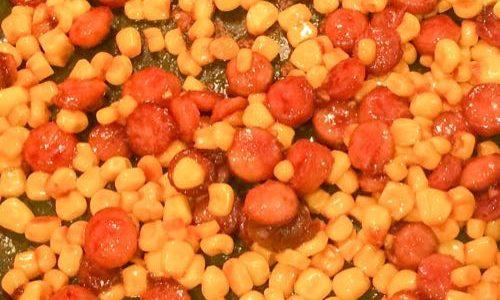 ウィンナーとコーンのコンソメ炒め 〜お弁当の足りないときの一品としても便利!