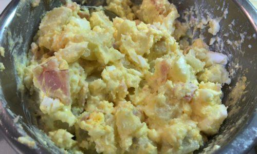 ポテサラをアレンジレシピ「カルボナーラポテサラ」