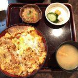 茅場町駅そばの「かやば町 長寿庵」でカツ丼とおかわりせいろをいただく 〜量の多さに驚いた
