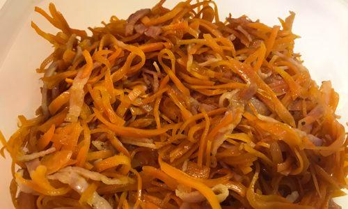 人参とベーコンの炒め物のレシピ