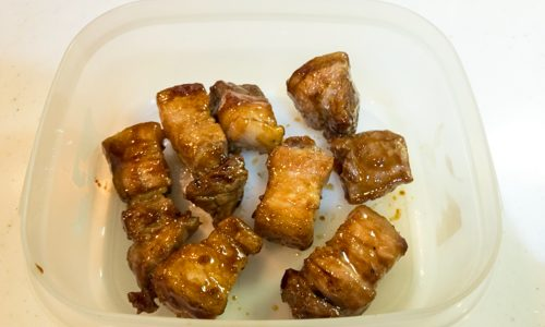 豚ばらブロックの甘辛煮のレシピ