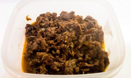 簡単に作る牛肉のしぐれ煮のレシピ