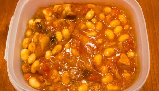 トマト缶、鶏肉、大豆を使ったレシピ「大豆と鶏肉のトマト煮」